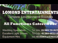 Image supplied by Lomond Entertainments