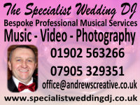 Image supplied by The Specialist Wedding DJ