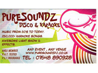 Logo for Puresoundz Disco & Karaoke
