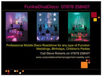 Image supplied by Funkie Diva Disco - Corporate Events Management