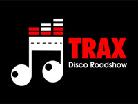 Logo for TRAX Disco Roadshow