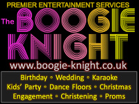Logo for The Boogie Knight