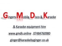 Gingers Mobile Disco and Karaoke logo