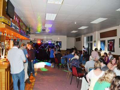 Party picture at Mangotsfield United Football Club