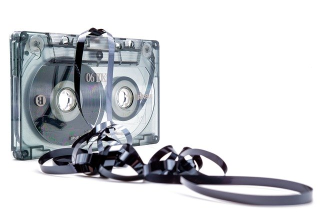 Picture of an unspooled cassette tape implying confusion