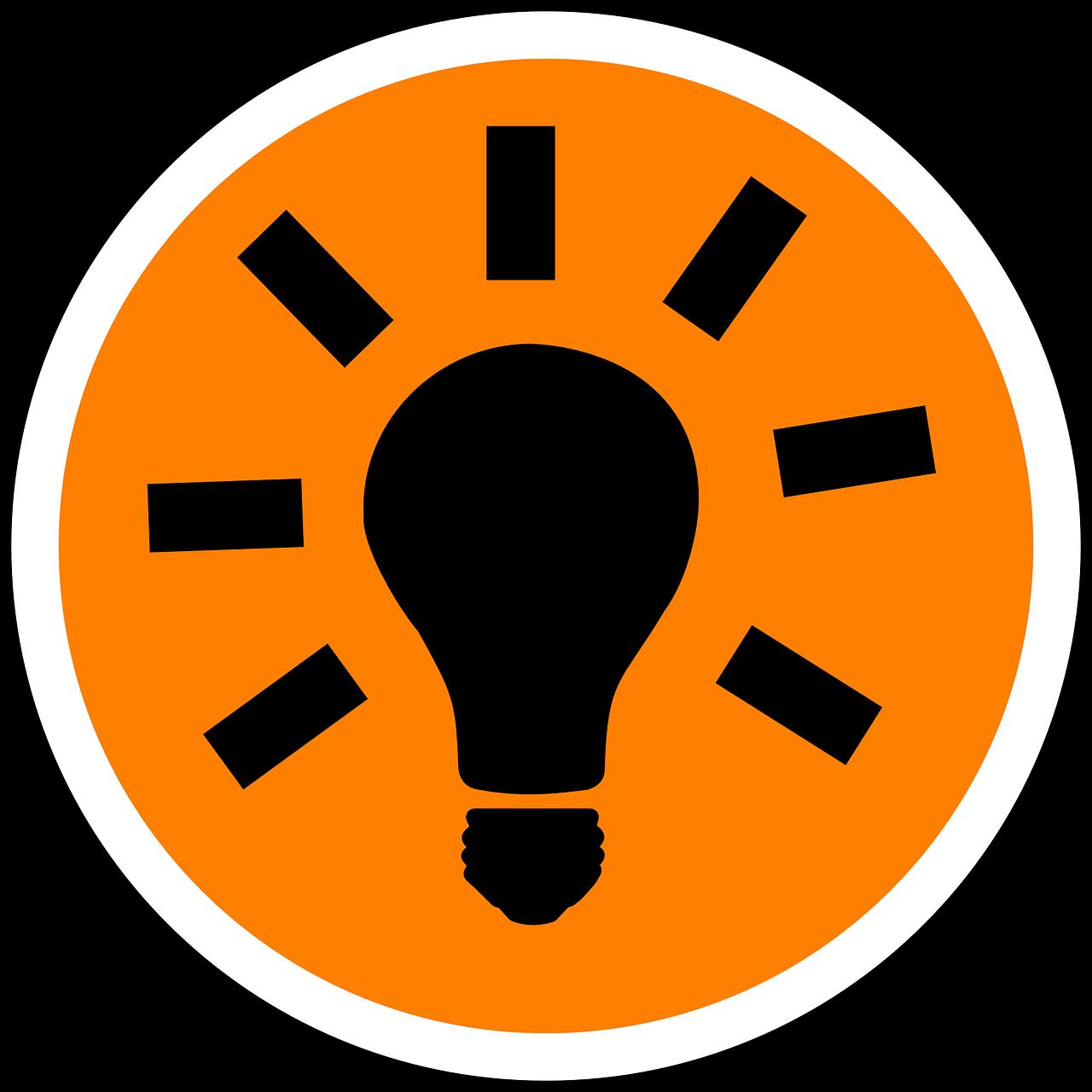 Light bulb moment diagram