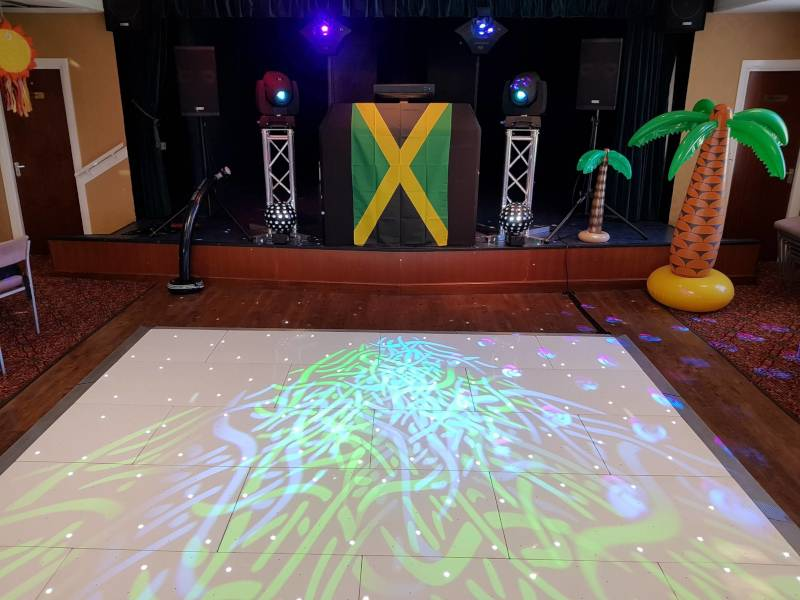 Dance floor hire in Houghton-le-Spring by The Boogie Knight