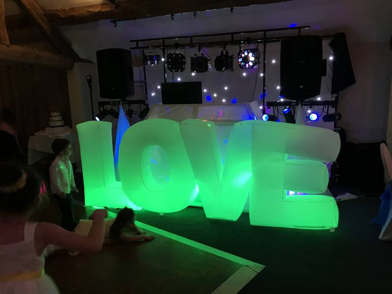 LOVE letter hire in Bromsgrove by Atmosphere Roadshow
